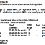 Getting MAC addresses using SNMP on EX2300/EX3400 |